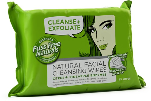 fuss free face wipes cleanse