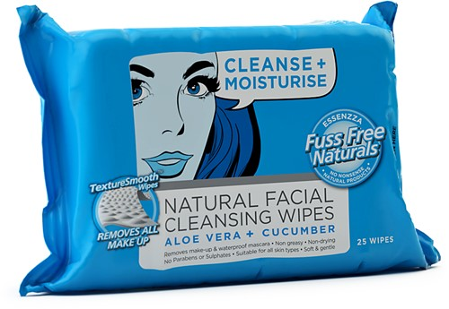 fuss free face wipes cleanse moisturise