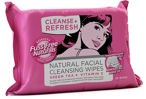 fuss free face wipes cleanse refresh