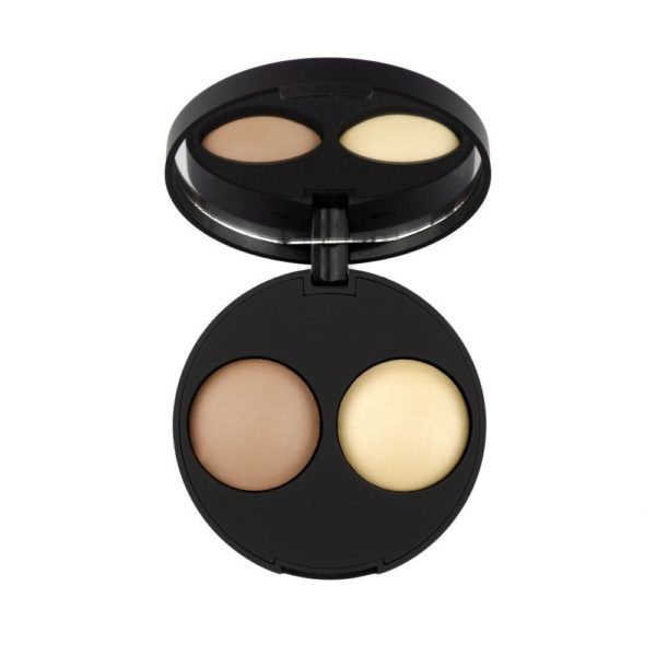 inika makeup inika organic baked contour duo almon