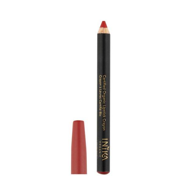 inika makeup inika organic lipstick crayon chilli red